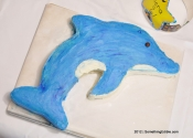 For My Daughter's Birthday: How to Sculpt a Dolphin Themed Cake.