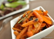 A Root Rescued from Mediocrity: Brown Butter and Ginger Glazed Baby Carrots.