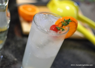 Great Drinks Start in the Garden: Honey Thyme Tom Collins.