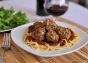 Spaghetti Night Without the Mess: Oven-roasted Mini Beef Meatballs