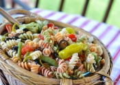 Ridiculously simple pasta salad for impromptu potlucks