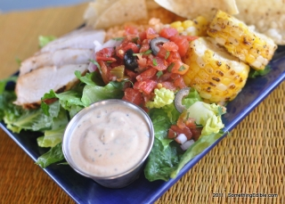 How to healthy-up a condiment and avoid suckage: Spicy Southwest Ranch Dip and Salad Dressing.