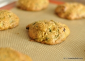 Nutrition under cover of baked good: Zucchini Cranberry Walnut Breakfast Cookies.