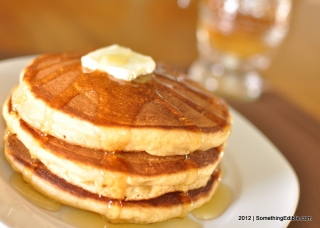 Whole Wheat and Honey Buttermilk Pancakes